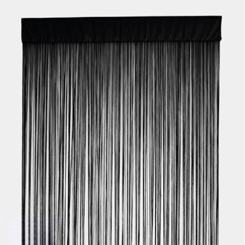 STRING Curtain Panel Fringe Room Divider BLACK Quickfit Blinds And Curtains