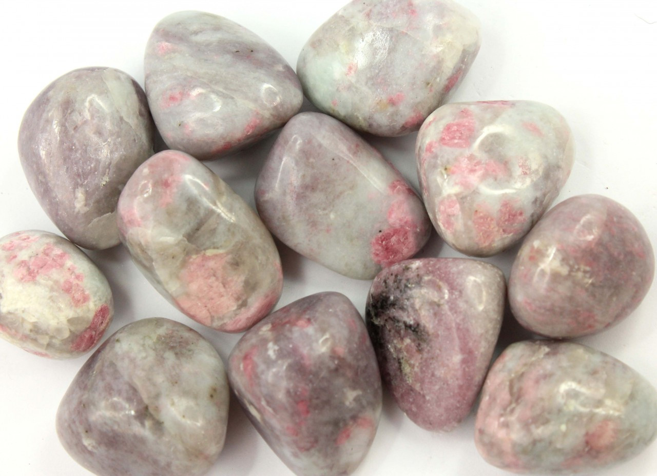 Tumbled Stones Light Pink Spotted