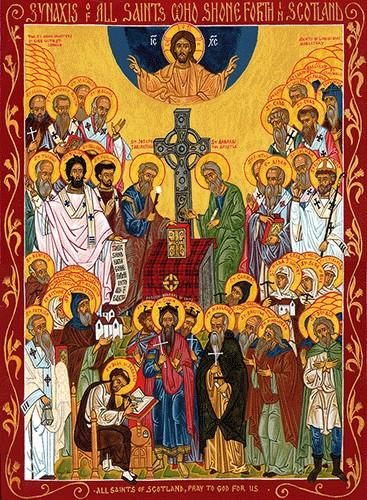 All Saints Of Scotland Large Icon Ancient Faith Store