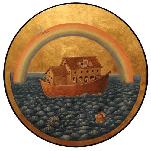 Noahs Ark Round Icon Ancient Faith Store
