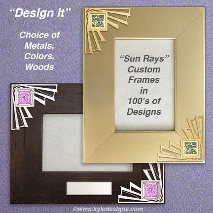 Shop Unique Photo Frames in Silver or Gold at Kyle Design