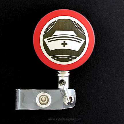 Red Nure Badge Reel