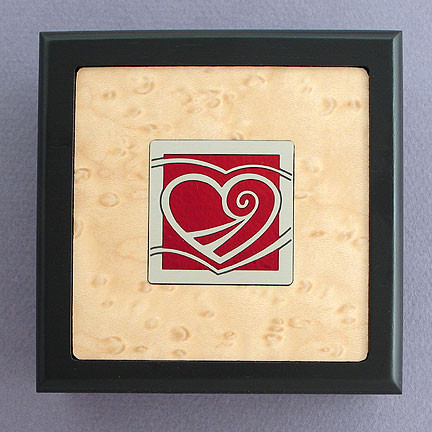 Custom Wood Jewlery Box with Heart Design