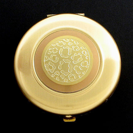 Gold Leopard Spots Mirror Compact