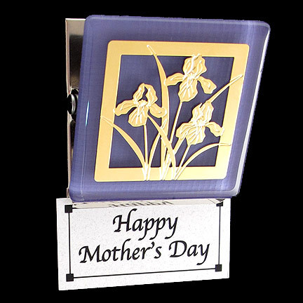 Purple Flower Fridge Magnet for Mom
