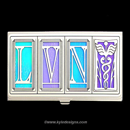 LVN Nurse Business Card Holder