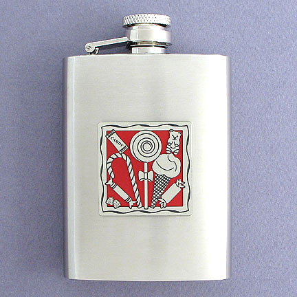 Custom Stainless Steel Candy Theme Flask