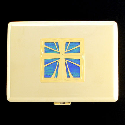 Gold Cross Cigarette Case from Kyle Design