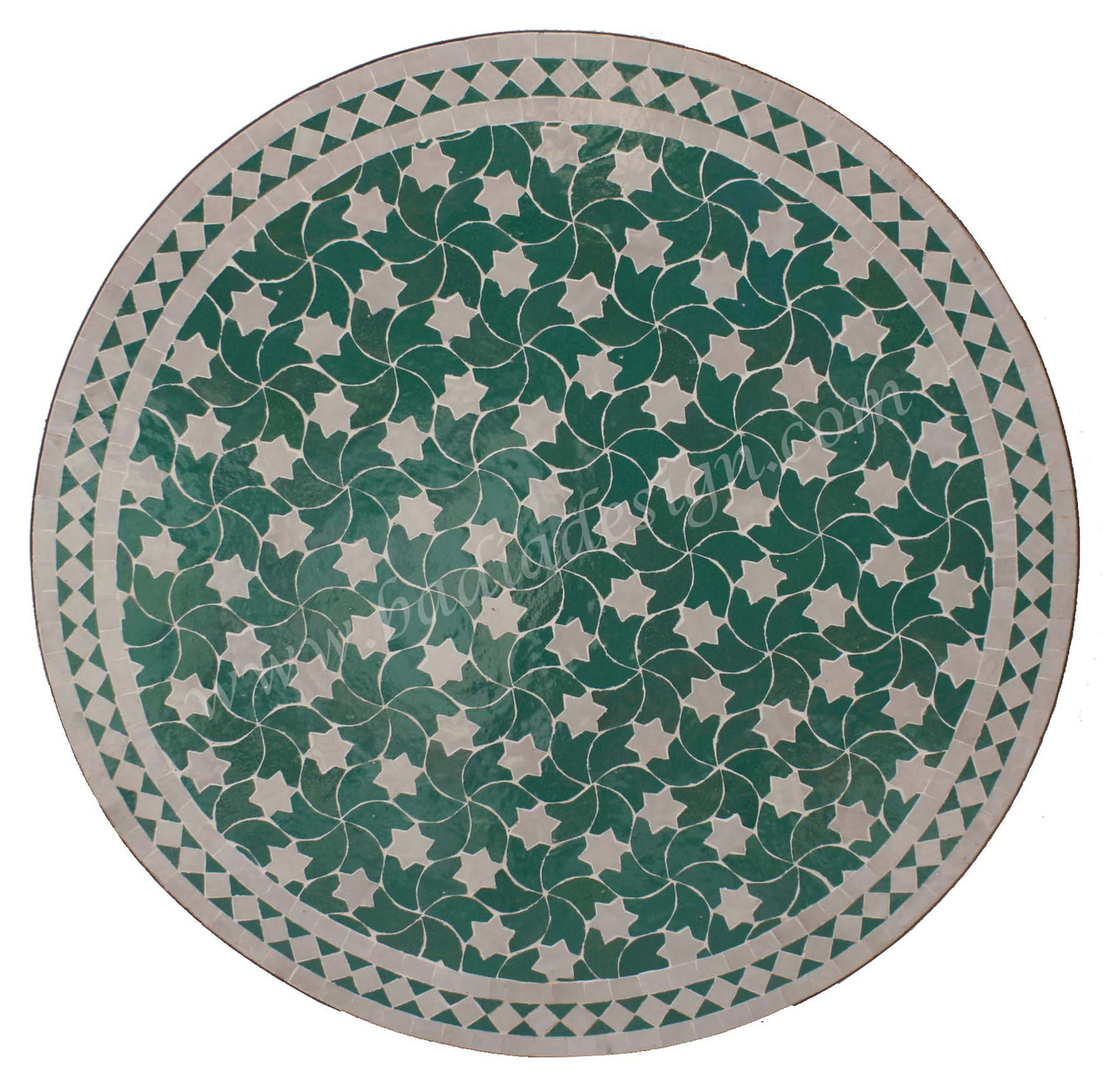 32 inch round mosaic tile table top mtr238