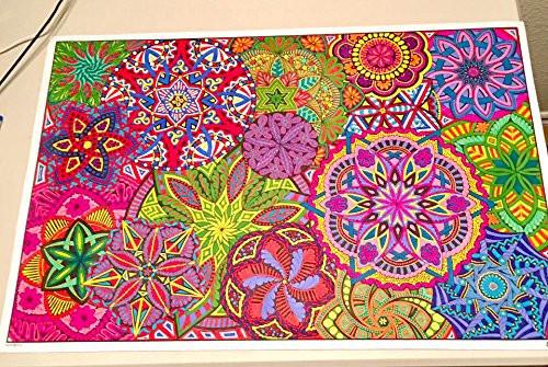 mandala madness giant coloring poster