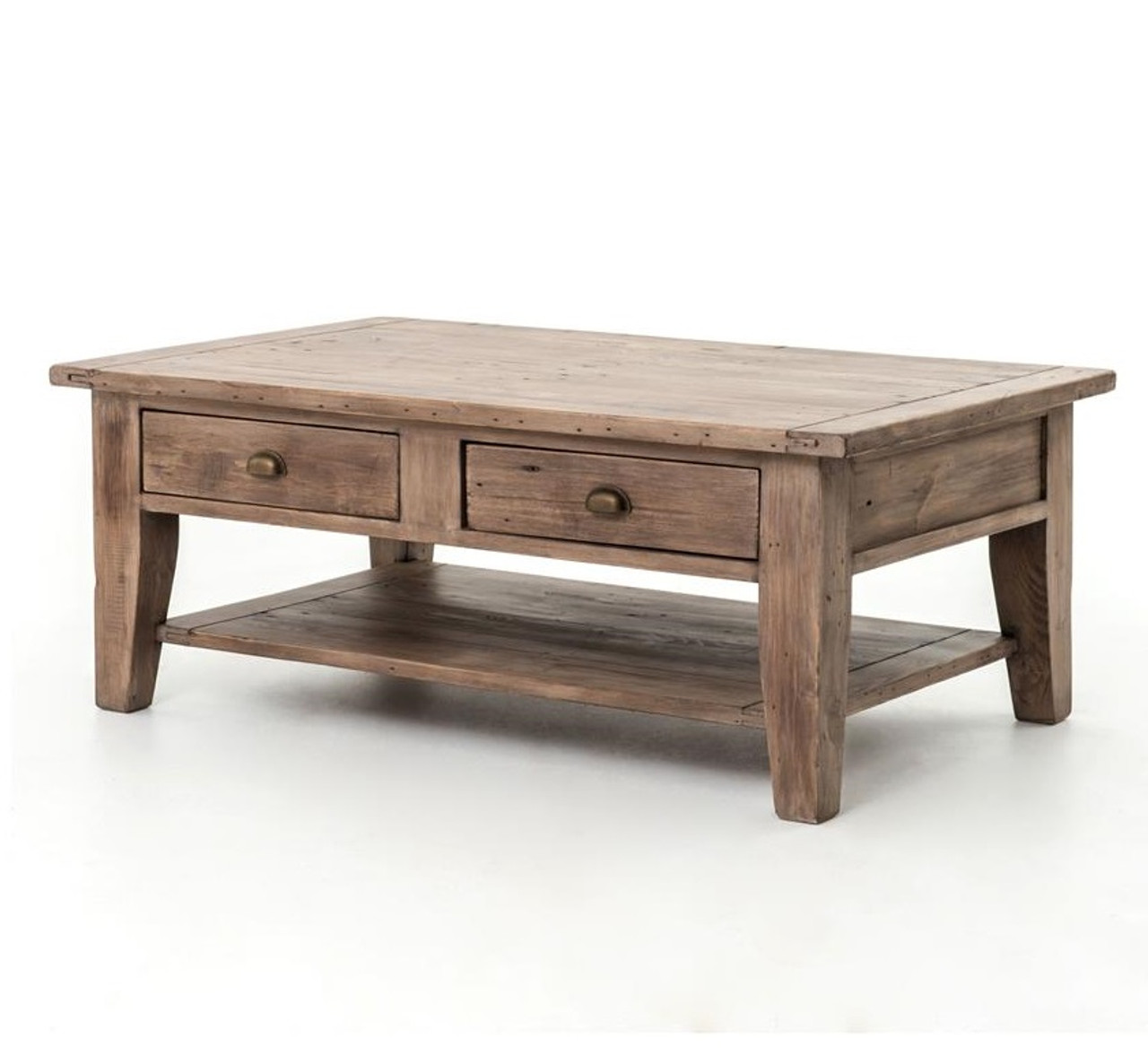 Large Drawers Coffee Table Wooden