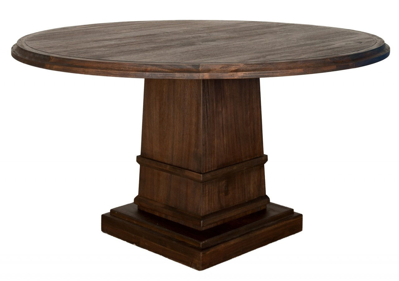 "Hudson 60"" Round Dining Table With Column Base"