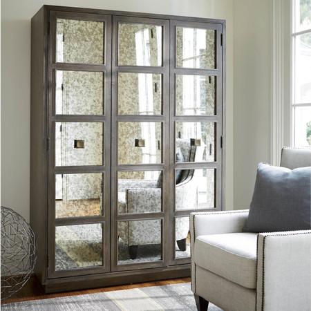 Playlist Antique Mirrored Armoire Wardrobe Zin Home