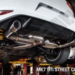 Hpa Cat Back Street Exhaust W Center Muffler For Mk7 Vw Golf Gti Black Tip Etektuning Com