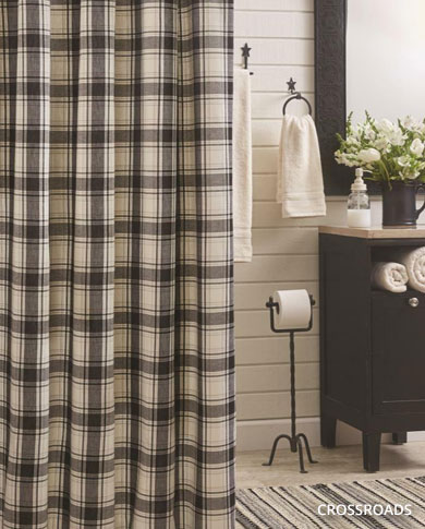 country shower curtains primitive
