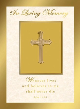 Deceased Mass Card In Loving Memory 50 Ct For Church