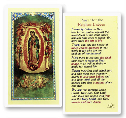 Prayer For The Helpless Unborn Our Lady Of Guadalupe