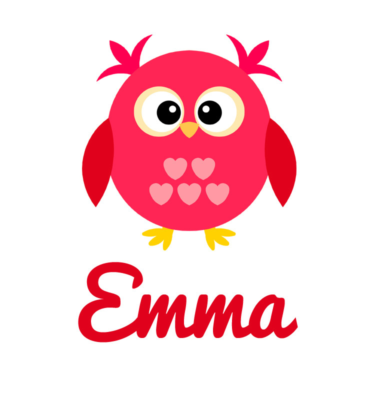 Girls Name Pink Amp Red Love Owl Baby Top Personalised
