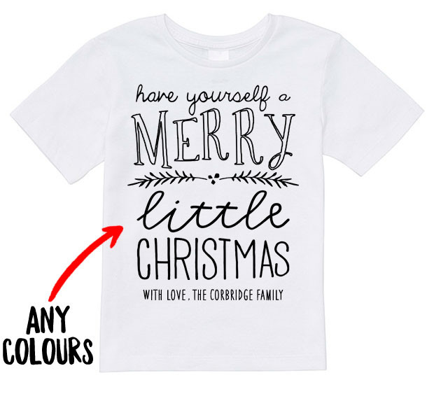 Merry Little Christmas Toddler Tee Personalised Baby