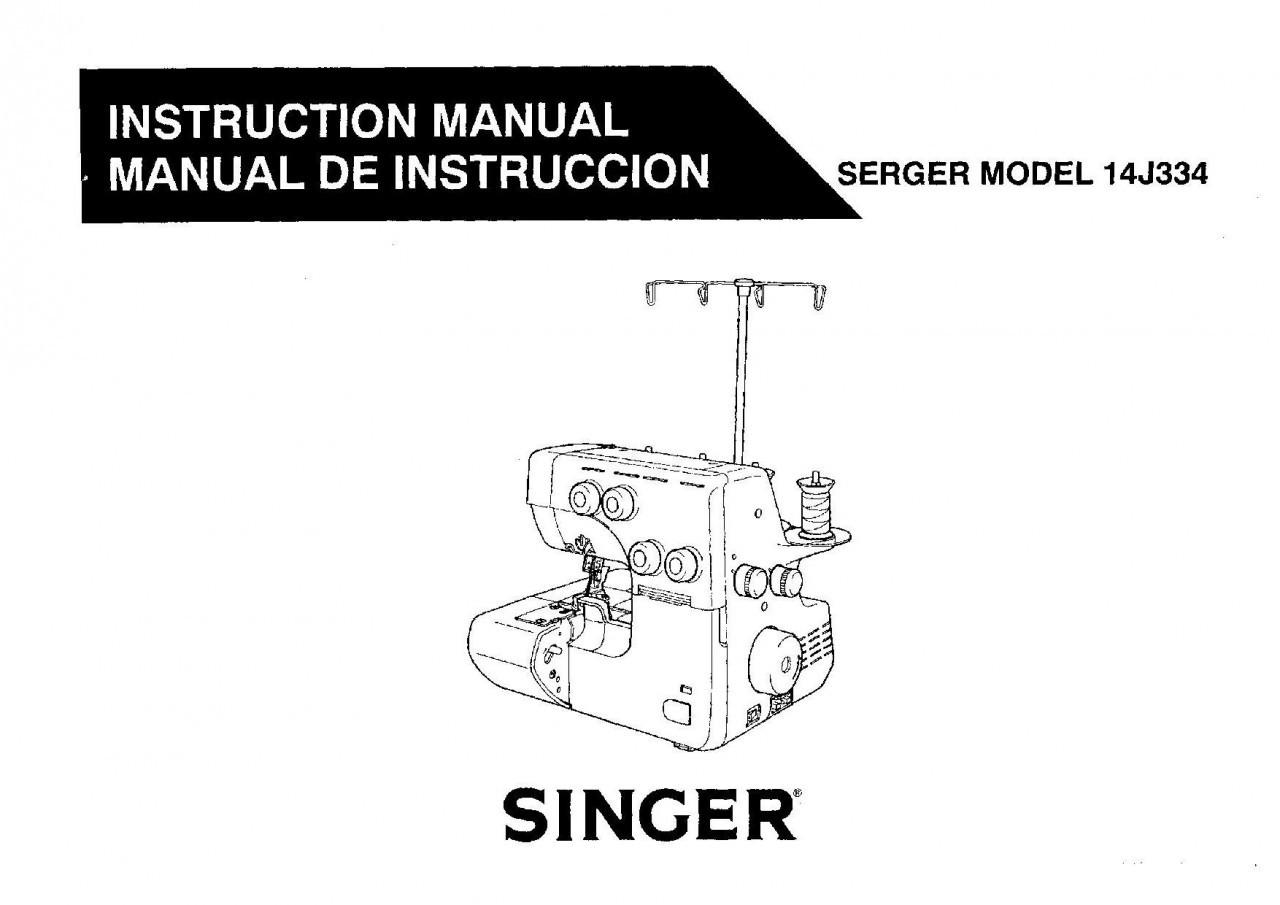 Globe M28 Singer 14j334 Overlocker Instruction Manual