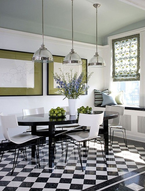 Zillow's Dig This Trend: French Flair black and white kitchen