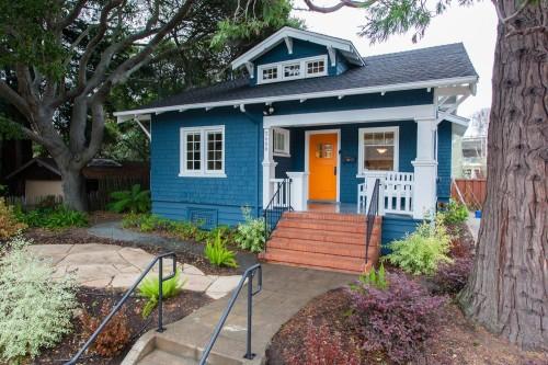 House with orange door