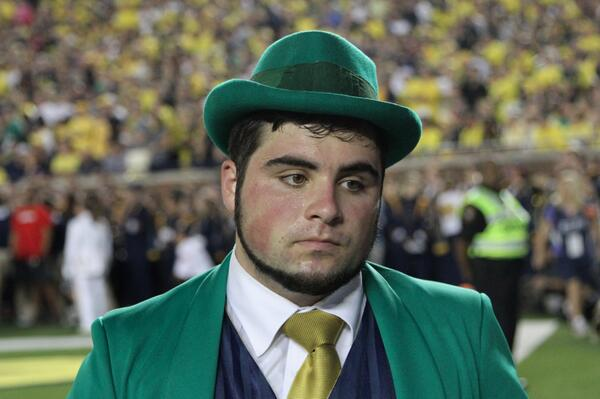 Image result for sad notre dame fans