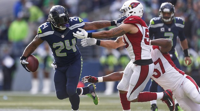 Seattle Seahawks' Marshawn Lynch against Arizona Cardinals
