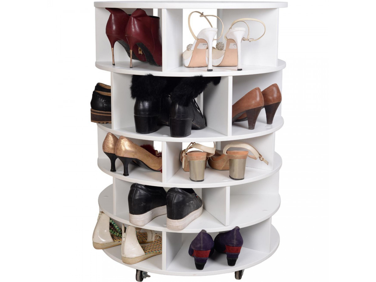 meuble a chaussure rotatif en bois may