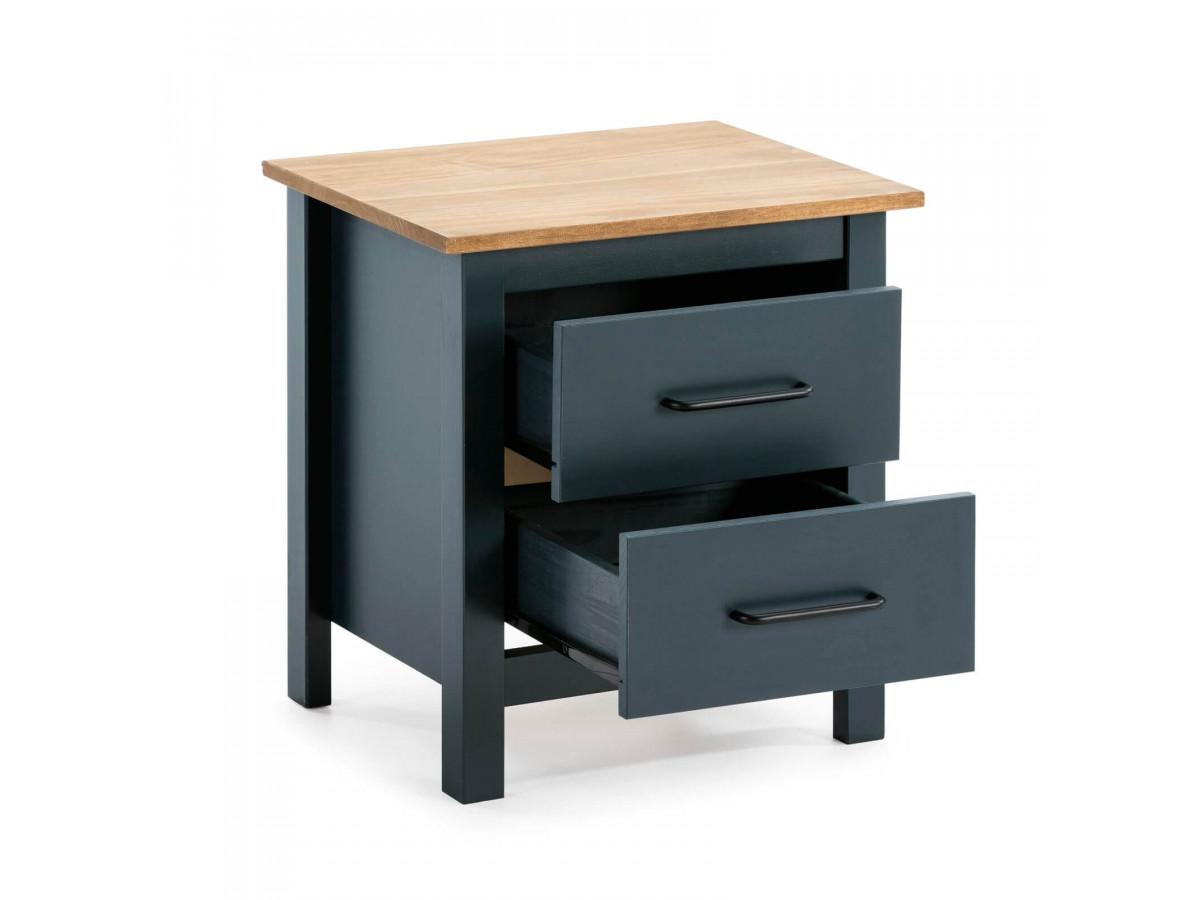 table de chevet megane bleu bois