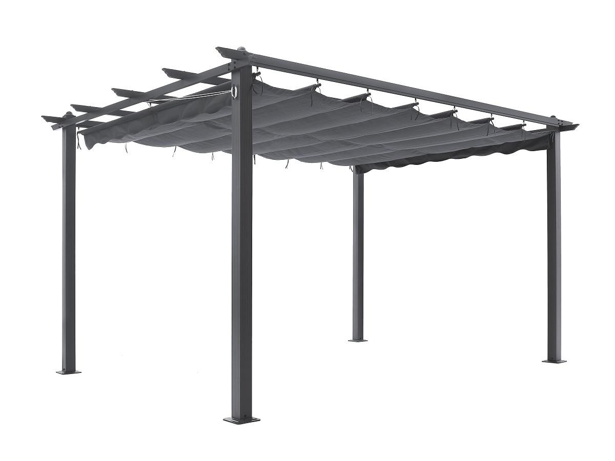 pergola aluminium toile coulissante 3x4 m anne