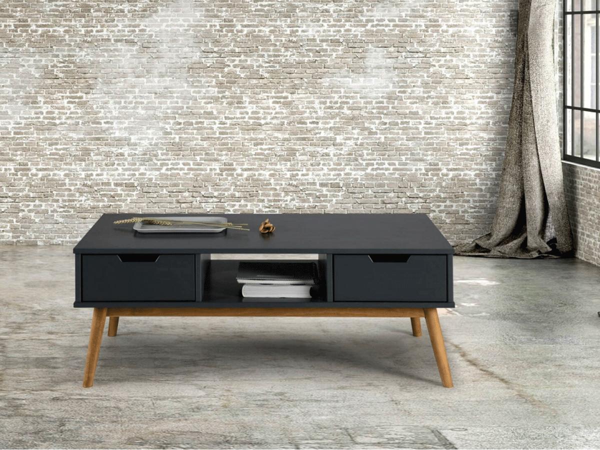 table basse alma gris bois clair bobochic