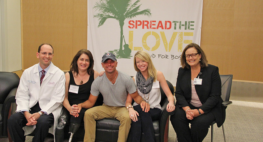 Kenny Chesney at Boston Medical Center. Photo provided.