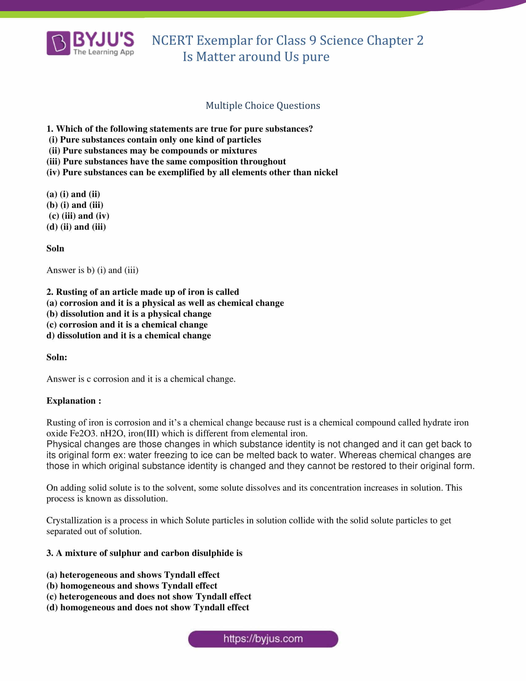 Worksheet Mixtures And Solutions Answer Key