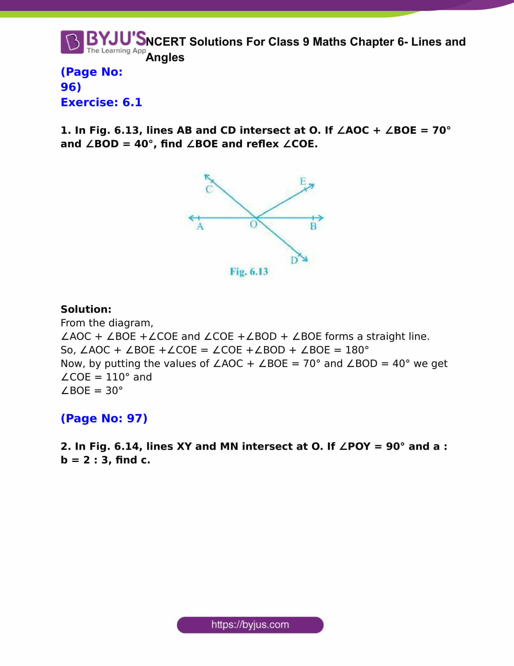 Download Ncert Solutions For Class 9 Maths Chapter 6 Lines