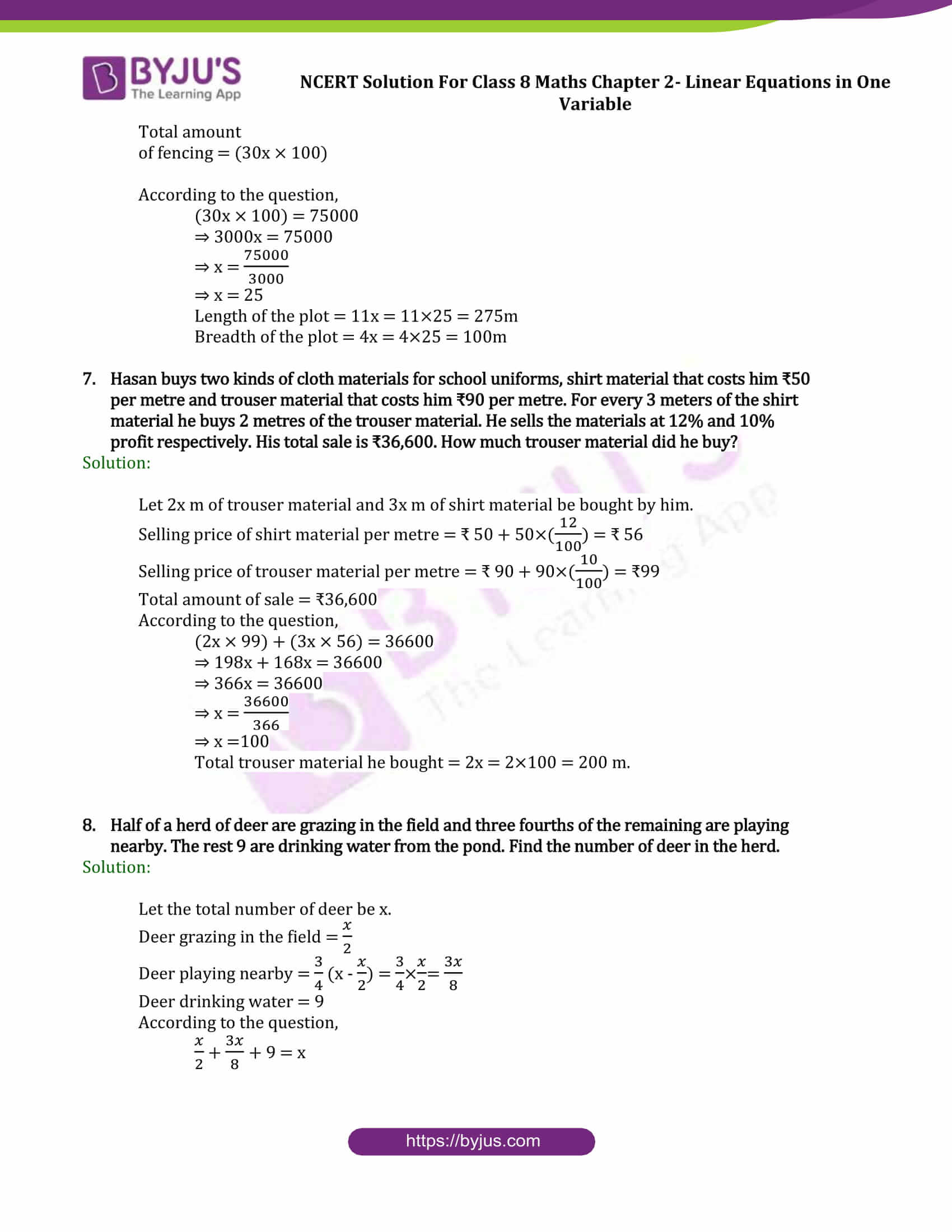 Ncert Solutions Class 8 Maths Chapter 2