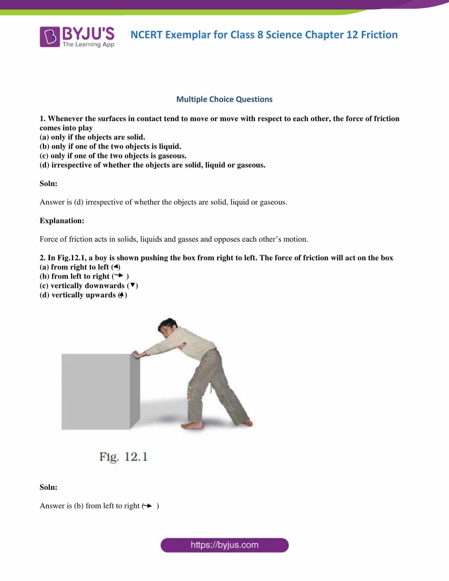Ncert Exemplar Class 8 Science Solutions Chapter 12