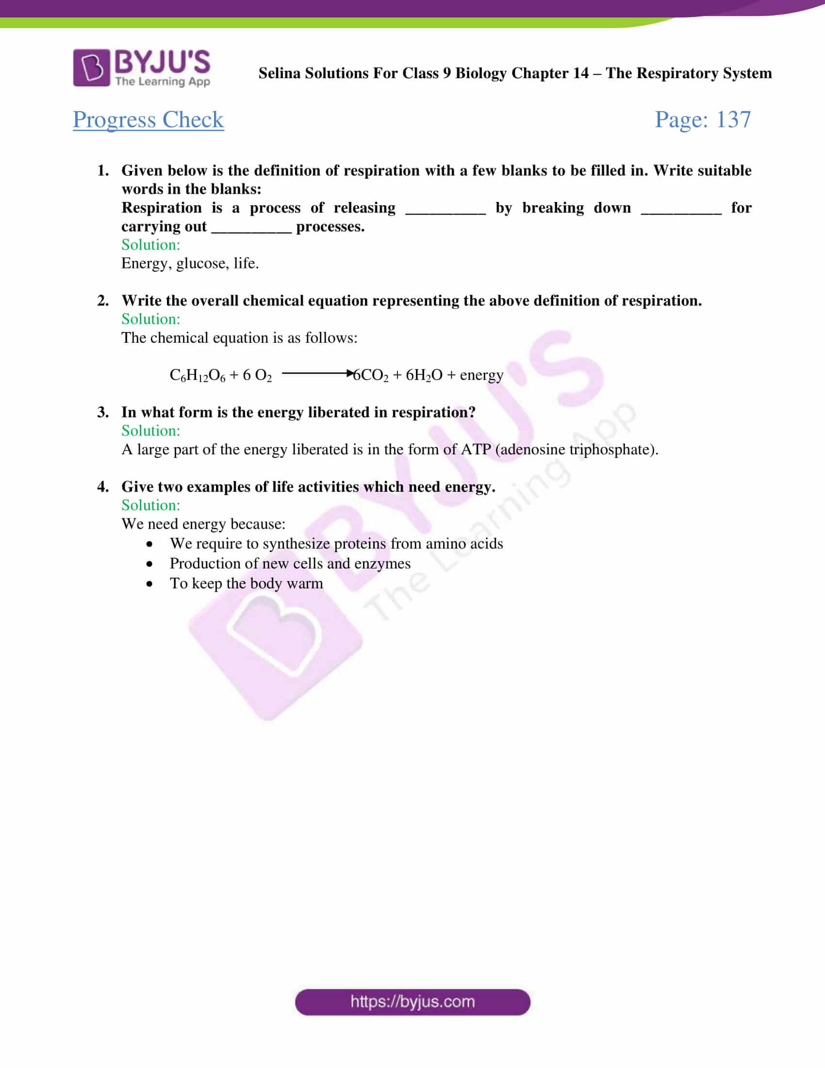 Selina Solutions Class 9 Concise Biology Chapter 14 The