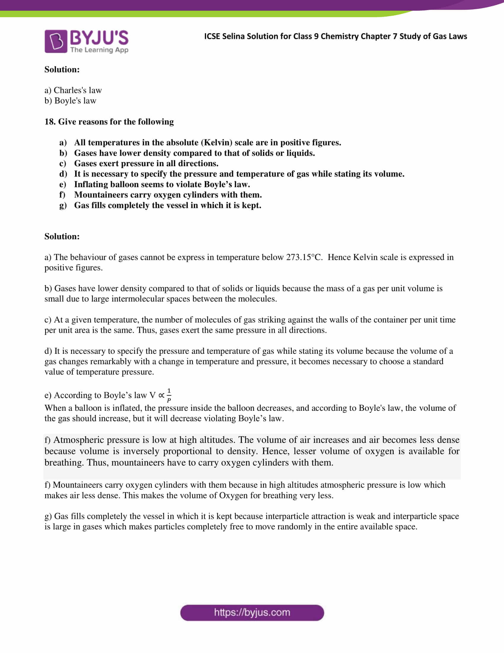 Icse Selina Solution For Class 9 Chemistry Chapter 7 Study