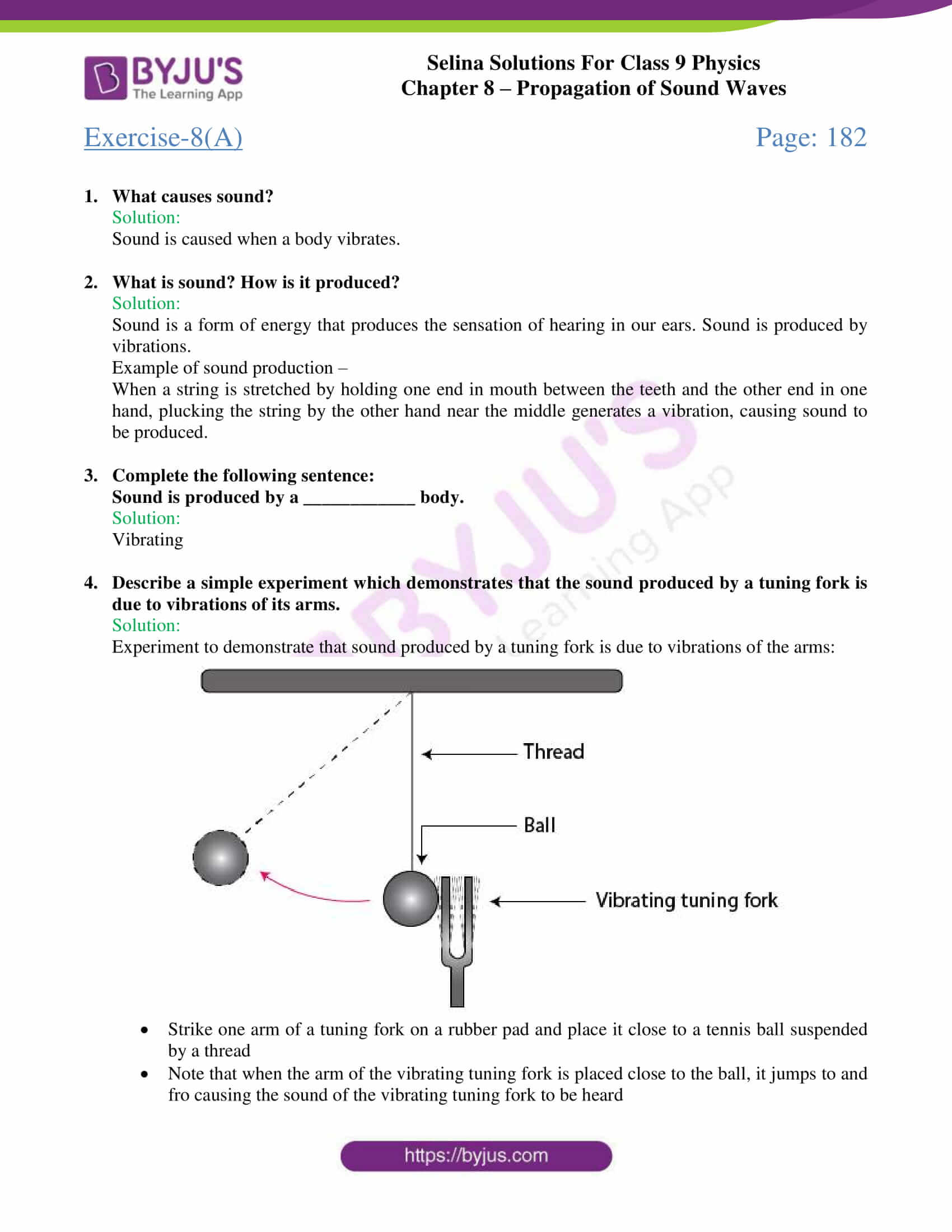 Selina Solutions Class 9 Concise Physics Chapter 8