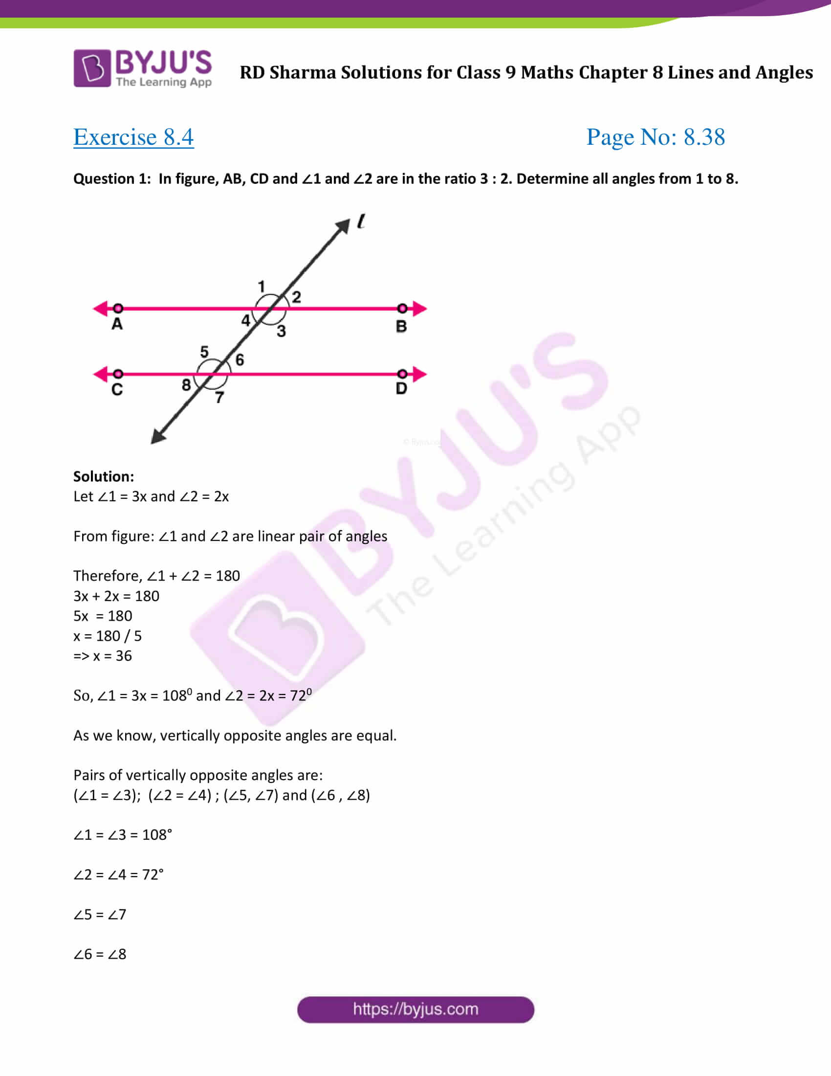 Angles On A Straight Line Worksheet Grade 5