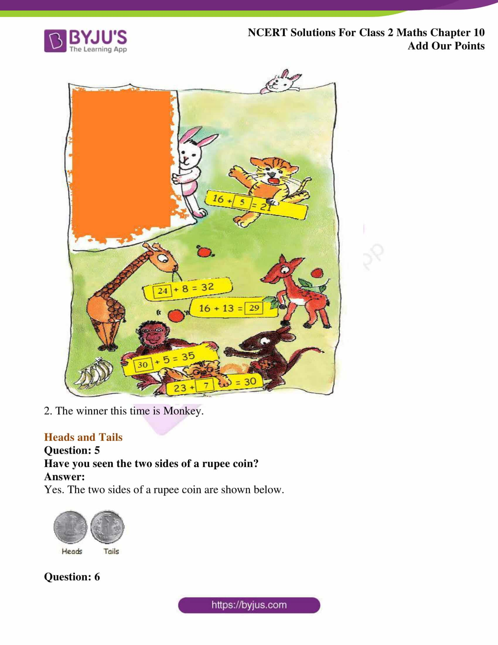 Ncert Solutions For Class 2 Maths Chapter 10 Add Our