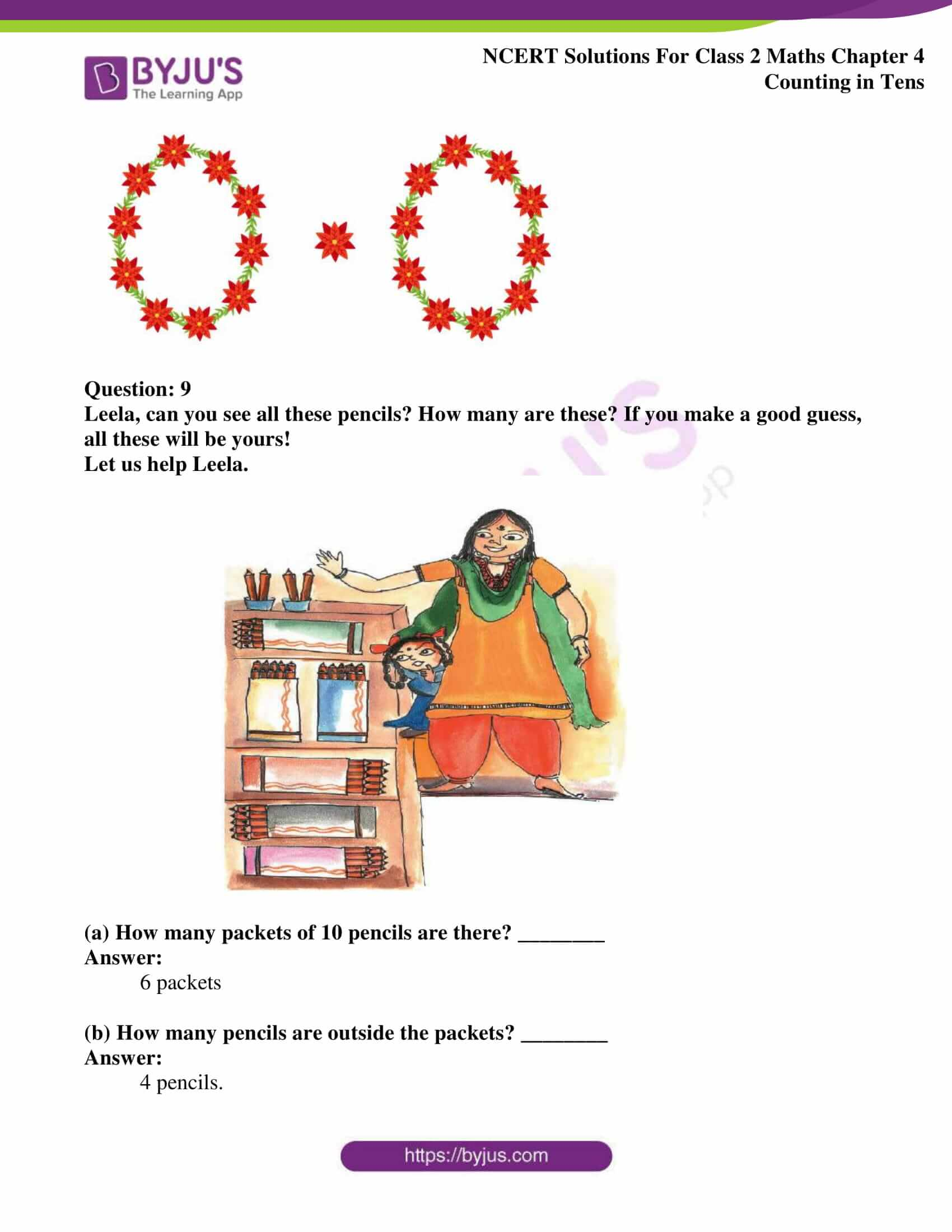 Ncert Solutions For Class 2 Maths Chapter 4 Counting In
