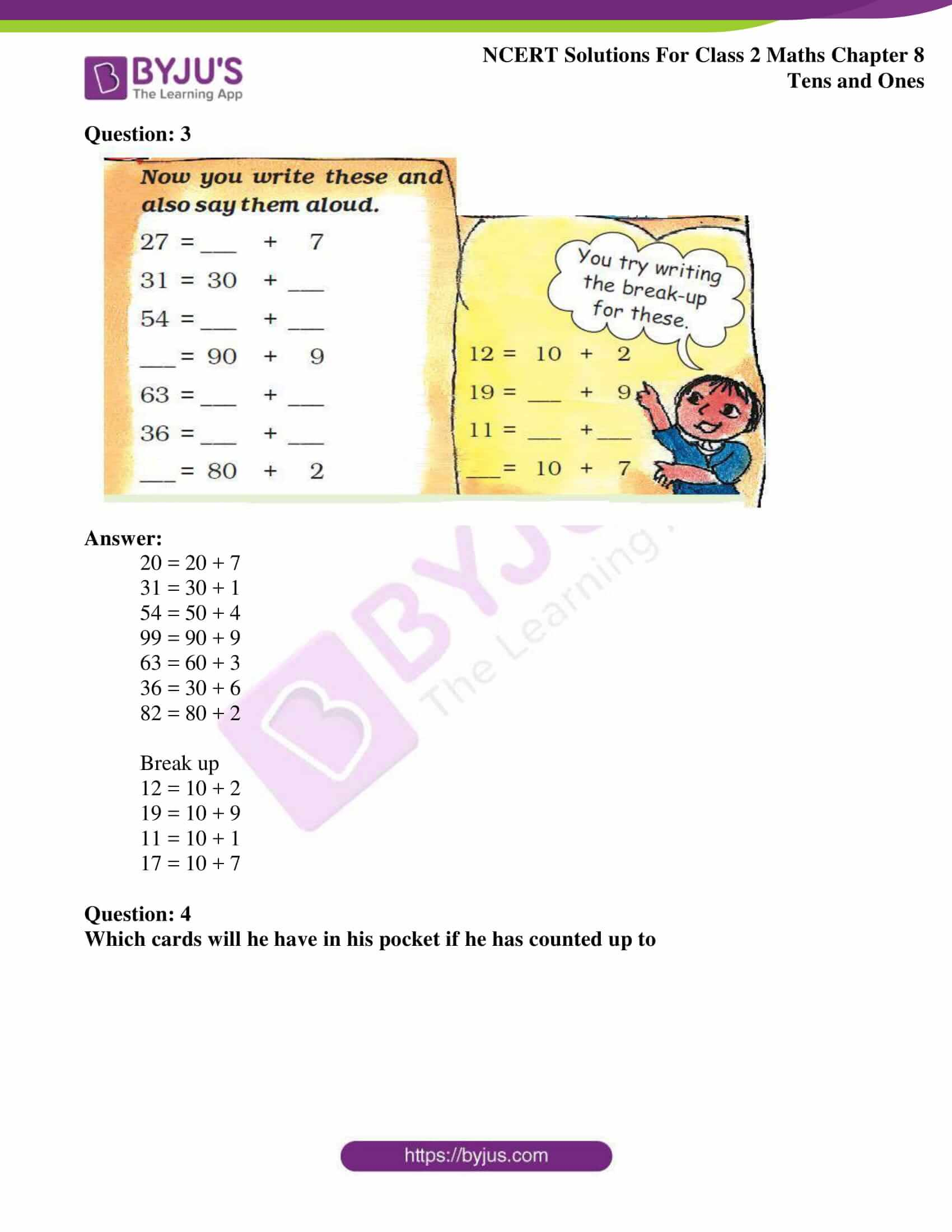 Ncert Solutions For Class 2 Maths Chapter 8 Tens And Ones