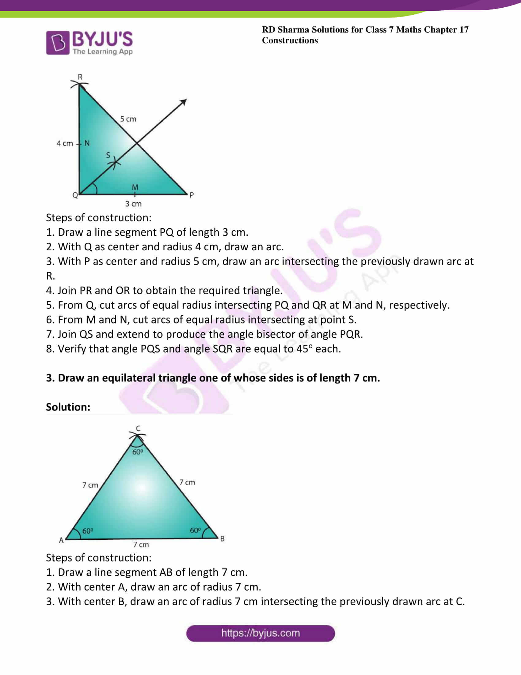 Rd Sharma Solutions For Class 7 Maths Chapter 17