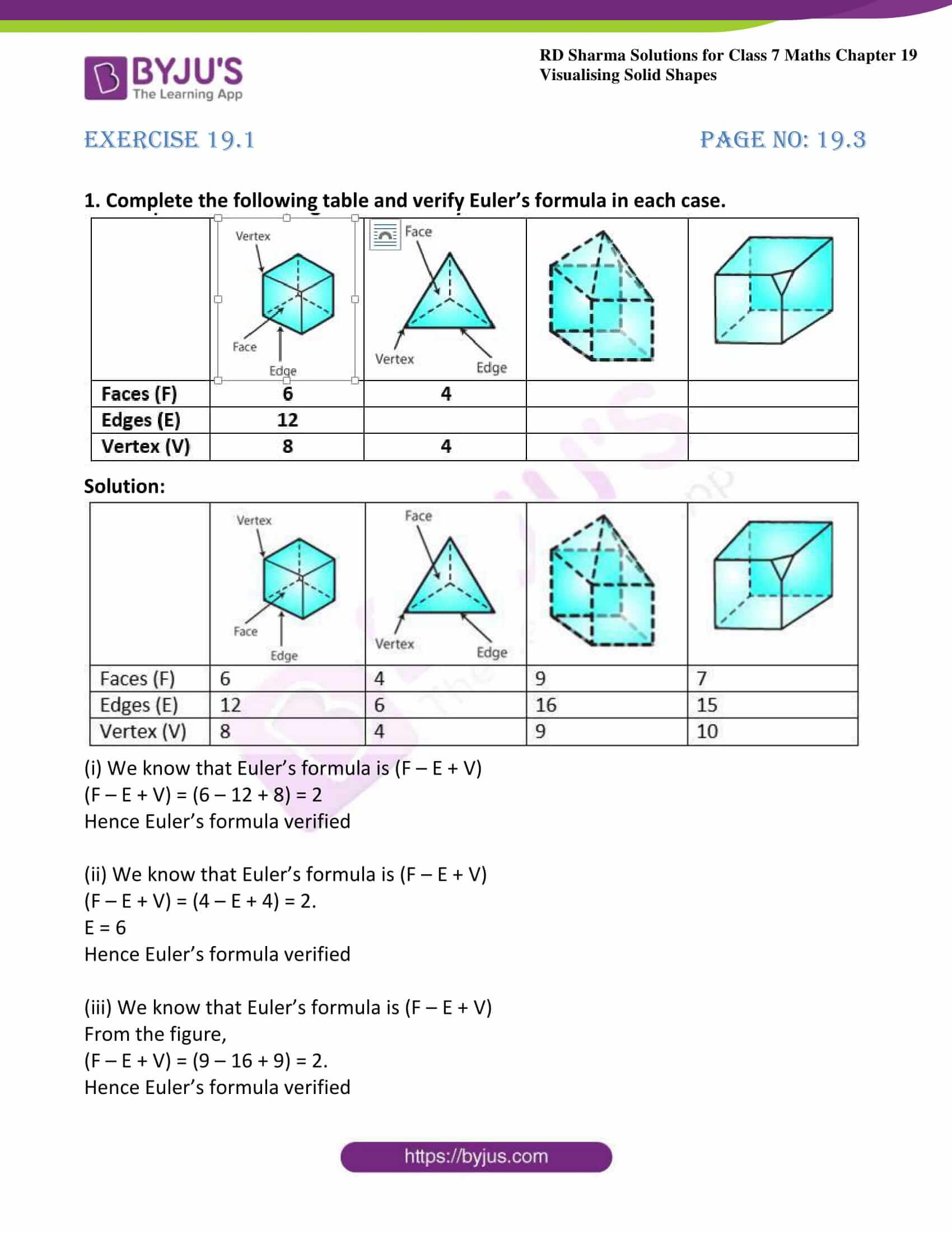 Rd Sharma Solutions For Class 7 Maths Chapter 19