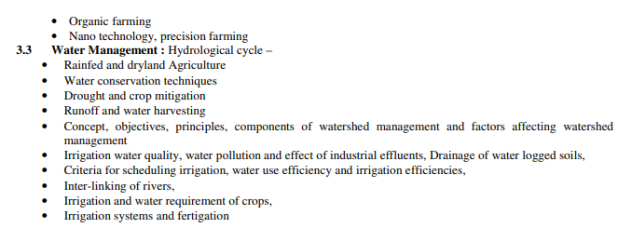 MPSC Syllabus 2020 - MPSC Revised Mains Syllabus GS I Agriculture (2)