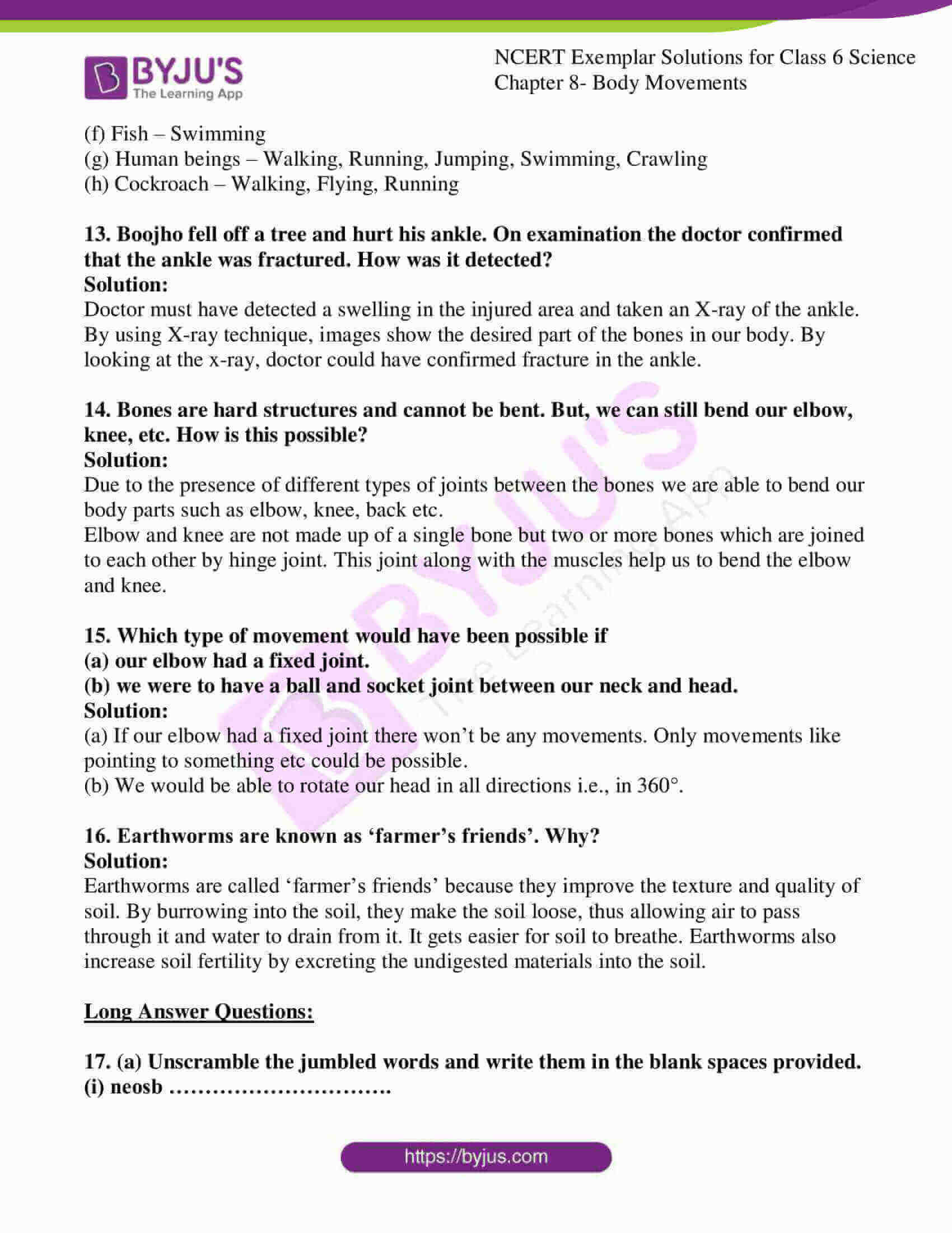 Ncert Exemplar Solutions For Class 6 Science Chapter 8