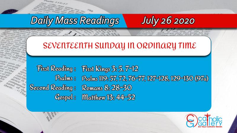 Catholic Sunday Daily Mass Readings 26th July 2020