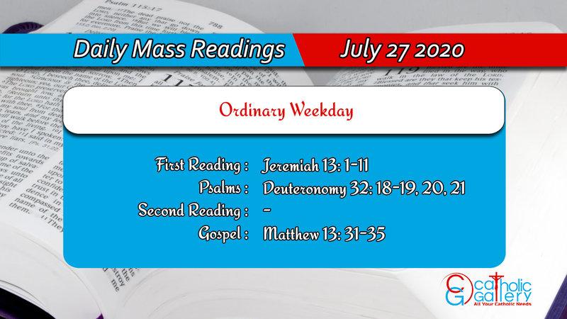 Catholic Daily Mass Readings 27th July 2020